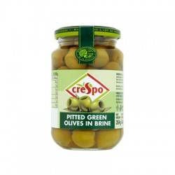 CRESPO GREEN PITTED OLIVES 907G
