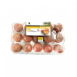BRITISH LION EGGS - 15 EGGS PREPACK (CLASS A MIXED WEIGHT)