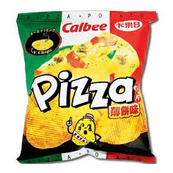 CALBEE POTATO CHIPS PIZZA FLAV 55G