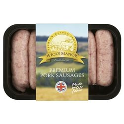 PREMIUM PORK SAUSAGES 400G (LONDON ONLY)