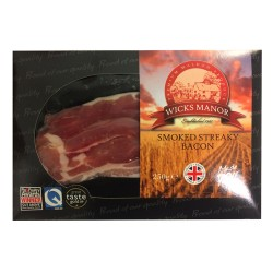 SMOKED STREAKY BACON 250G (LONDON ONLY)